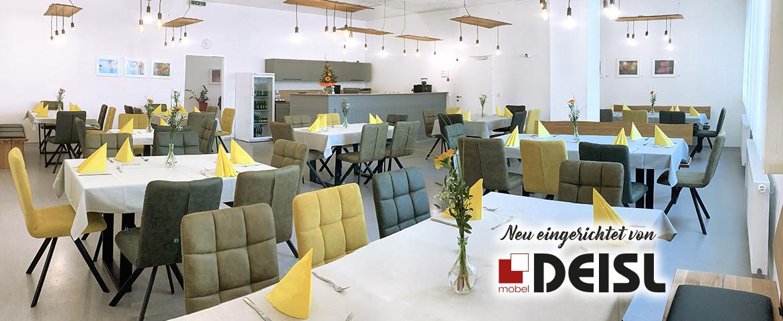 Unser Speisesaal wurde von Möbel DEISL in Liezen neu gestaltet.